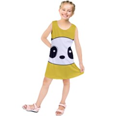 Face Panda Cute Kids  Tunic Dress