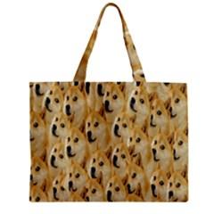 Face Cute Dog Zipper Mini Tote Bag