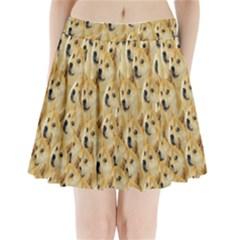 Face Cute Dog Pleated Mini Skirt