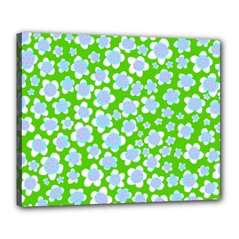 Flower Green Copy Canvas 20  x 16