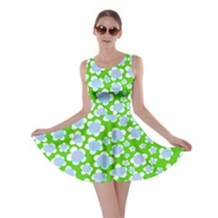 Flower Green Copy Skater Dress