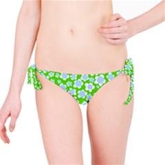 Flower Green Copy Bikini Bottom