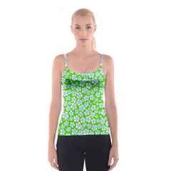 Flower Green Copy Spaghetti Strap Top