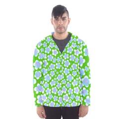 Flower Green Copy Hooded Wind Breaker (Men)
