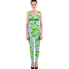 Flower Green Copy OnePiece Catsuit