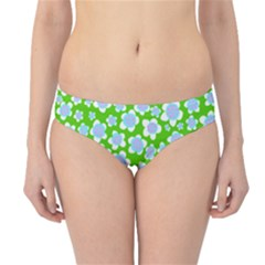 Flower Green Copy Hipster Bikini Bottoms