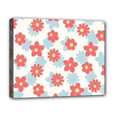 Flower Pink Deluxe Canvas 20  x 16