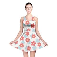 Flower Pink Reversible Skater Dress