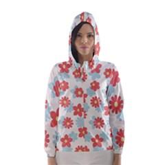 Flower Pink Hooded Wind Breaker (Women)