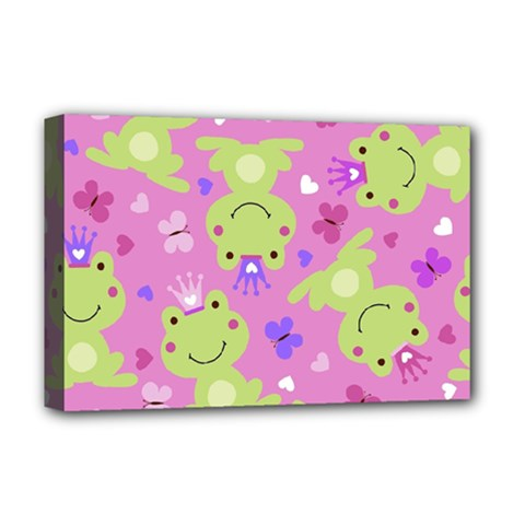 Frog Princes Deluxe Canvas 18  x 12