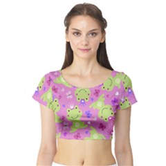 Frog Princes Short Sleeve Crop Top (Tight Fit)