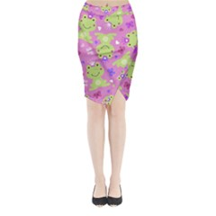 Frog Princes Midi Wrap Pencil Skirt
