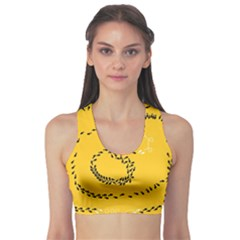 Yellow Soles Of The Feet Sports Bra