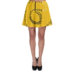 Yellow Soles Of The Feet Skater Skirt