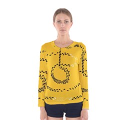 Yellow Soles Of The Feet Women s Long Sleeve Tee