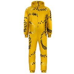 Yellow Soles Of The Feet Hooded Jumpsuit (Men)