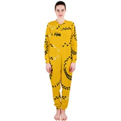 Yellow Soles Of The Feet OnePiece Jumpsuit (Ladies)
