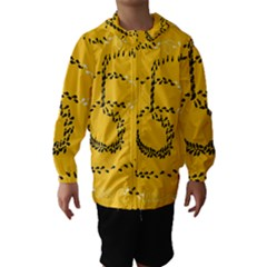 Yellow Soles Of The Feet Hooded Wind Breaker (Kids)