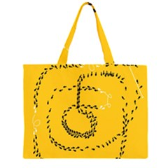 Yellow Soles Of The Feet Large Tote Bag