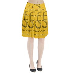 Yellow Soles Of The Feet Pleated Skirt