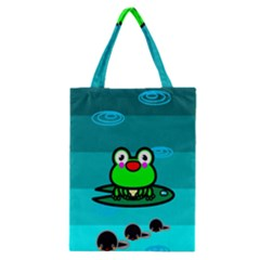 Frog Tadpole Green Classic Tote Bag