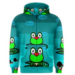 Frog Tadpole Green Men s Zipper Hoodie