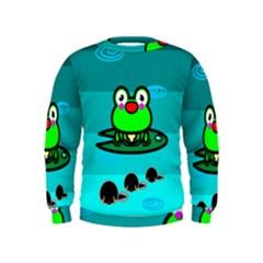 Frog Tadpole Green Kids  Sweatshirt