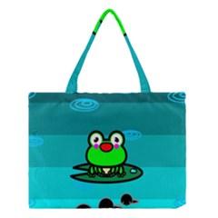 Frog Tadpole Green Medium Tote Bag