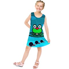 Frog Tadpole Green Kids  Tunic Dress