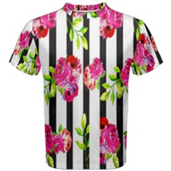 Flower Rose Men s Cotton Tee