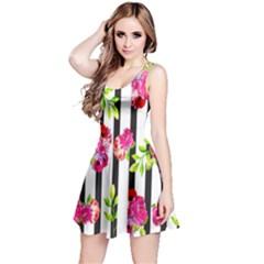 Flower Rose Reversible Sleeveless Dress