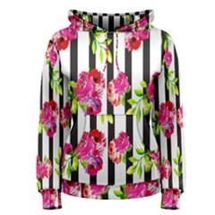 Flower Rose Women s Pullover Hoodie