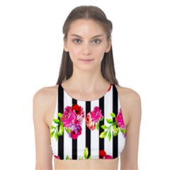 Flower Rose Tank Bikini Top