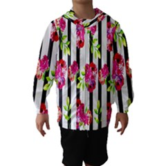 Flower Rose Hooded Wind Breaker (Kids)