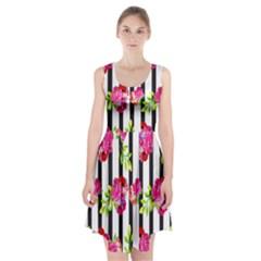 Flower Rose Racerback Midi Dress