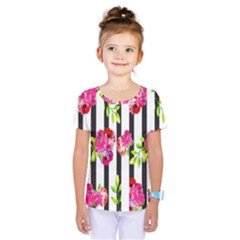 Flower Rose Kids  One Piece Tee