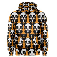 Halloween Night Cute Panda Orange Men s Pullover Hoodie