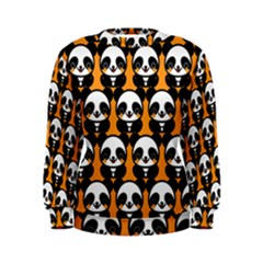 Halloween Night Cute Panda Orange Women s Sweatshirt