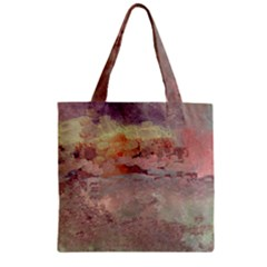 Sunrise Zipper Grocery Tote Bag