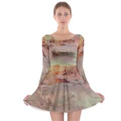 Sunrise Long Sleeve Skater Dress