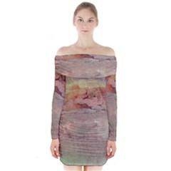 Sunrise Long Sleeve Off Shoulder Dress