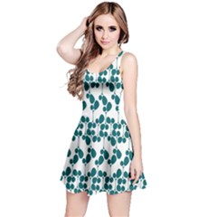 Flower Tree Blue Reversible Sleeveless Dress