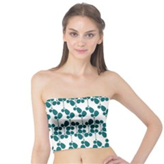 Flower Tree Blue Tube Top