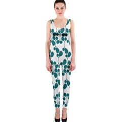 Flower Tree Blue OnePiece Catsuit