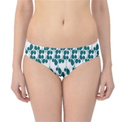Flower Tree Blue Hipster Bikini Bottoms