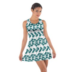 Flower Tree Blue Cotton Racerback Dress