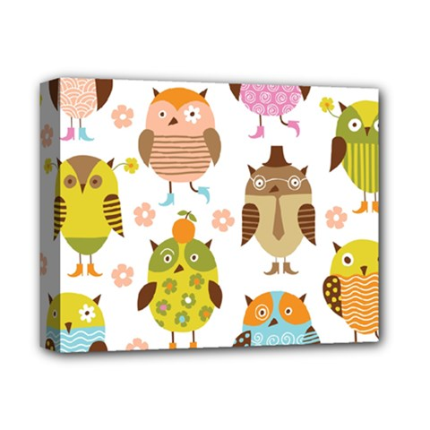 Highres Owls Deluxe Canvas 14  x 11