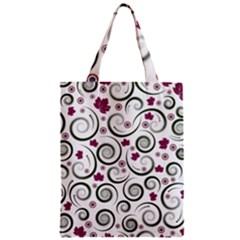 Leaf Back Purple Copy Zipper Classic Tote Bag