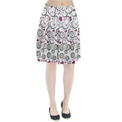 Leaf Back Purple Copy Pleated Skirt