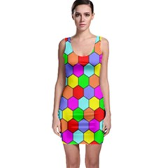Hexagonal Tiling Sleeveless Bodycon Dress